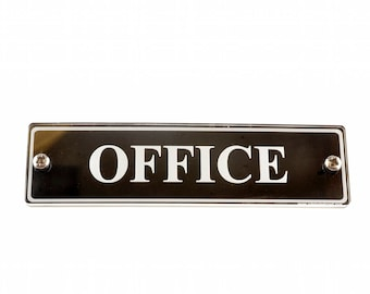 Office Door Sign. Contemporary Design Medium Size