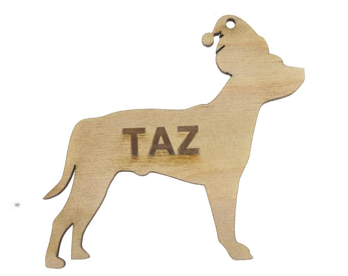 Personalised Staffordshire Bull Terrier Christmas Decoration
