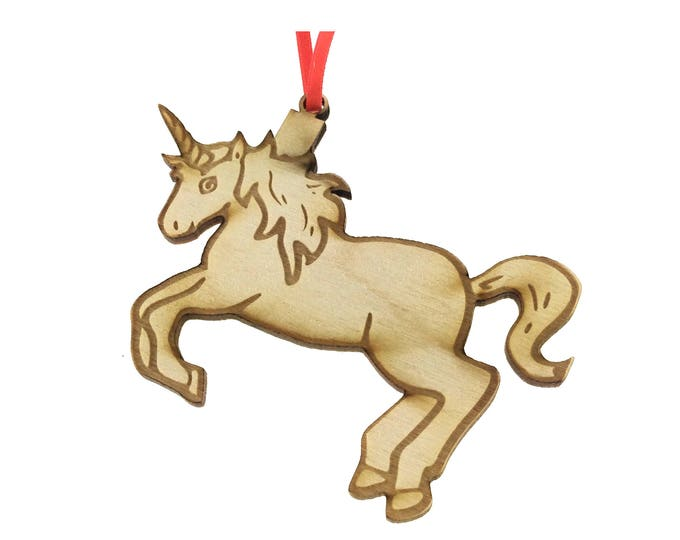 Wooden Unicorn - Can be personalised with child's name.