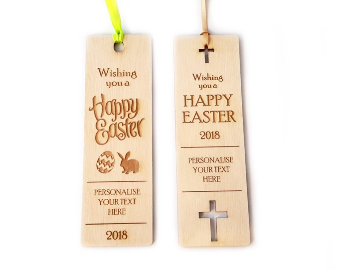 Personalised Wooden Bookmark Gift - for Easter, Birthday, Anniversary or Child's Birthday Party Thank Yous