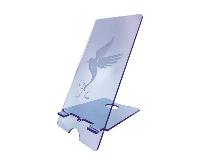 Mobile Phone Stand - Blue Songbird Design Ideal gift