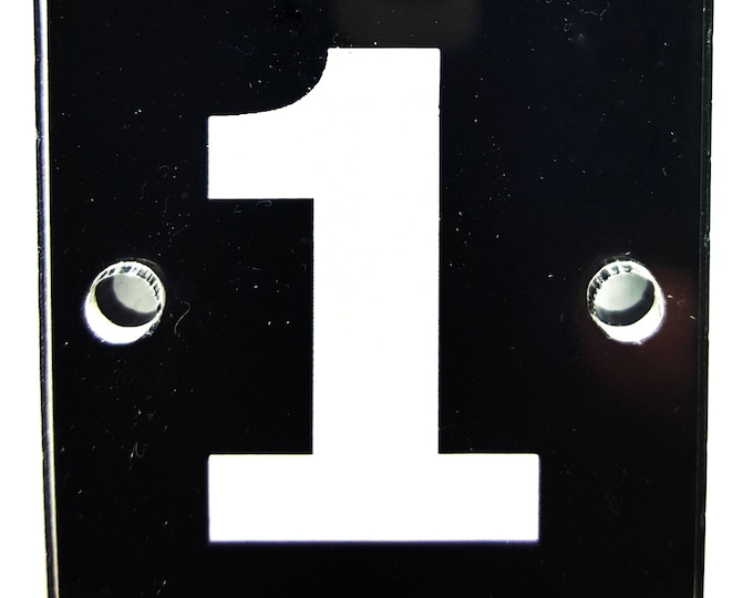 Door Numbers, House Numbers, Room Numbers, 0 to 9 - Interior or Exterior Acrylic Plastic with screw holes