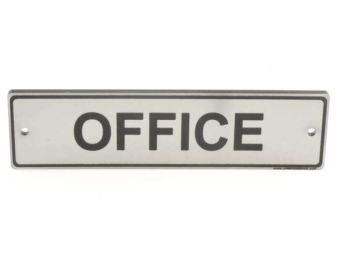 Silver Office Door Sign. Contemporary Design Supplied with Fixings