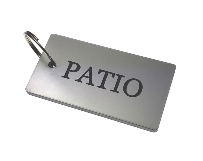 PATIO Key Ring - Silver Metallic Acrylic Plastic, House & Home,