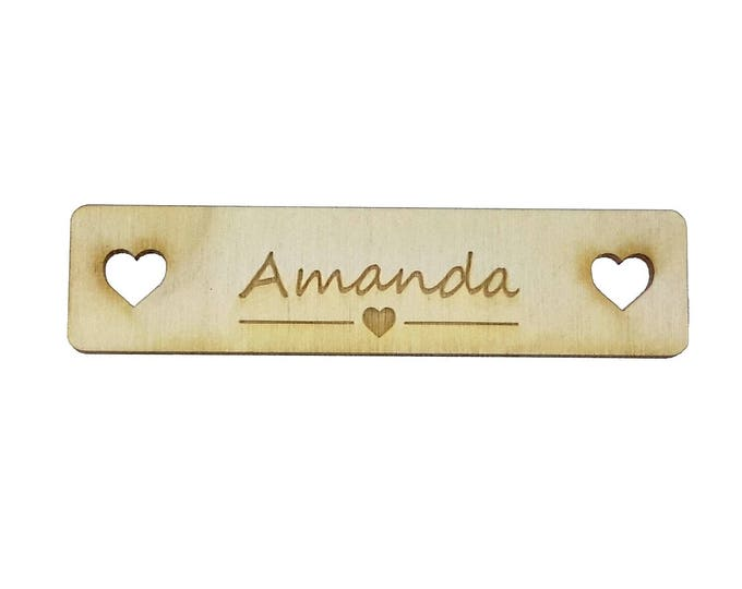 Personalised, Wooden, Wedding, Table Place Name Setting, name cards - Pack of 10 (same design)