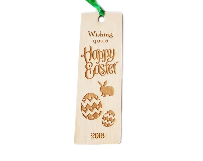 EASTER Wooden Bookmark Gift - great Easter gift for friends and family, alternative to chocolate!