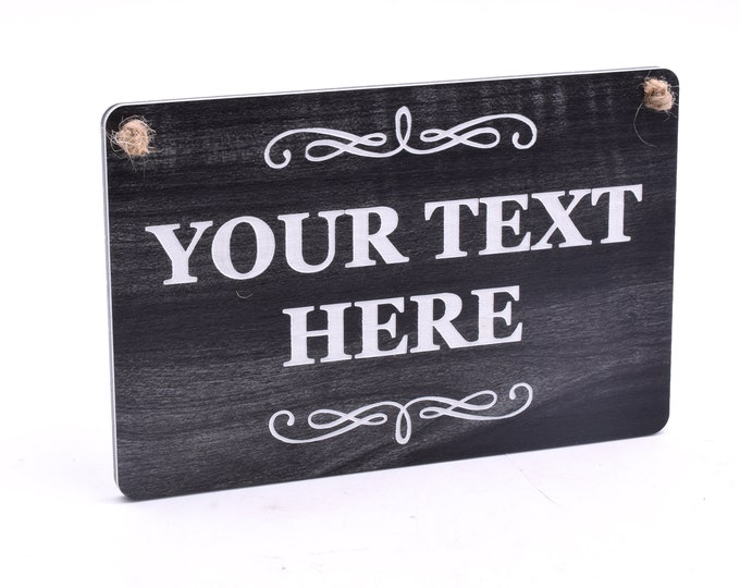 New Carbon Ash Personalised Wood Effect Sign Waterproof - Suitable for Interior and Exterior Use