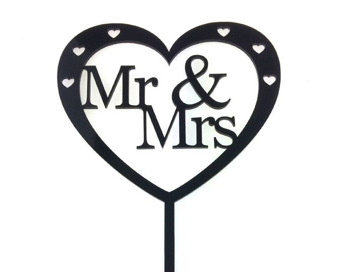 Wedding Cake Topper Heart - Mr and Mrs , Mrs and Mrs, Mr and Mr