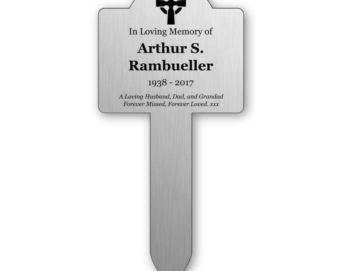 Personalised Solid Stainless Steel Memorial Stake for Remembering Your Loved Ones