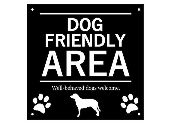 Dogs Welcome Shop Sign Window Glass Door Sticker Cafe Pub Pet Friendly Vinyl