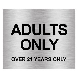 Adults Only Over 18 Years Only Adhesive Sticker Notice Door | Etsy