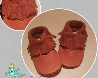 Leather Dolls Moccasins Individual Ecopell Leather by Fabric Enchantment
