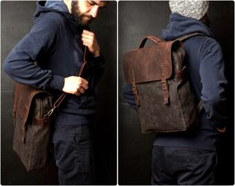 4daaa9c85500 Waxed Canvas Backpack