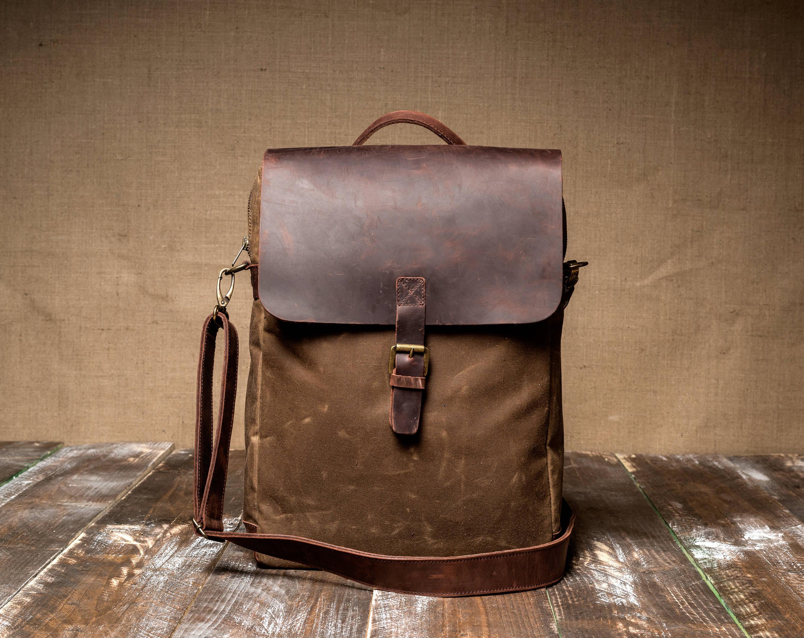 2175f3c61991 Man Bag made of Waxed Canvas Crossbody Bag for Man Canvas