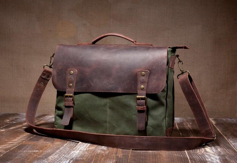 ac238f9225ff Mens Messenger Bag Leather Messenger Bag Canvas Messenger