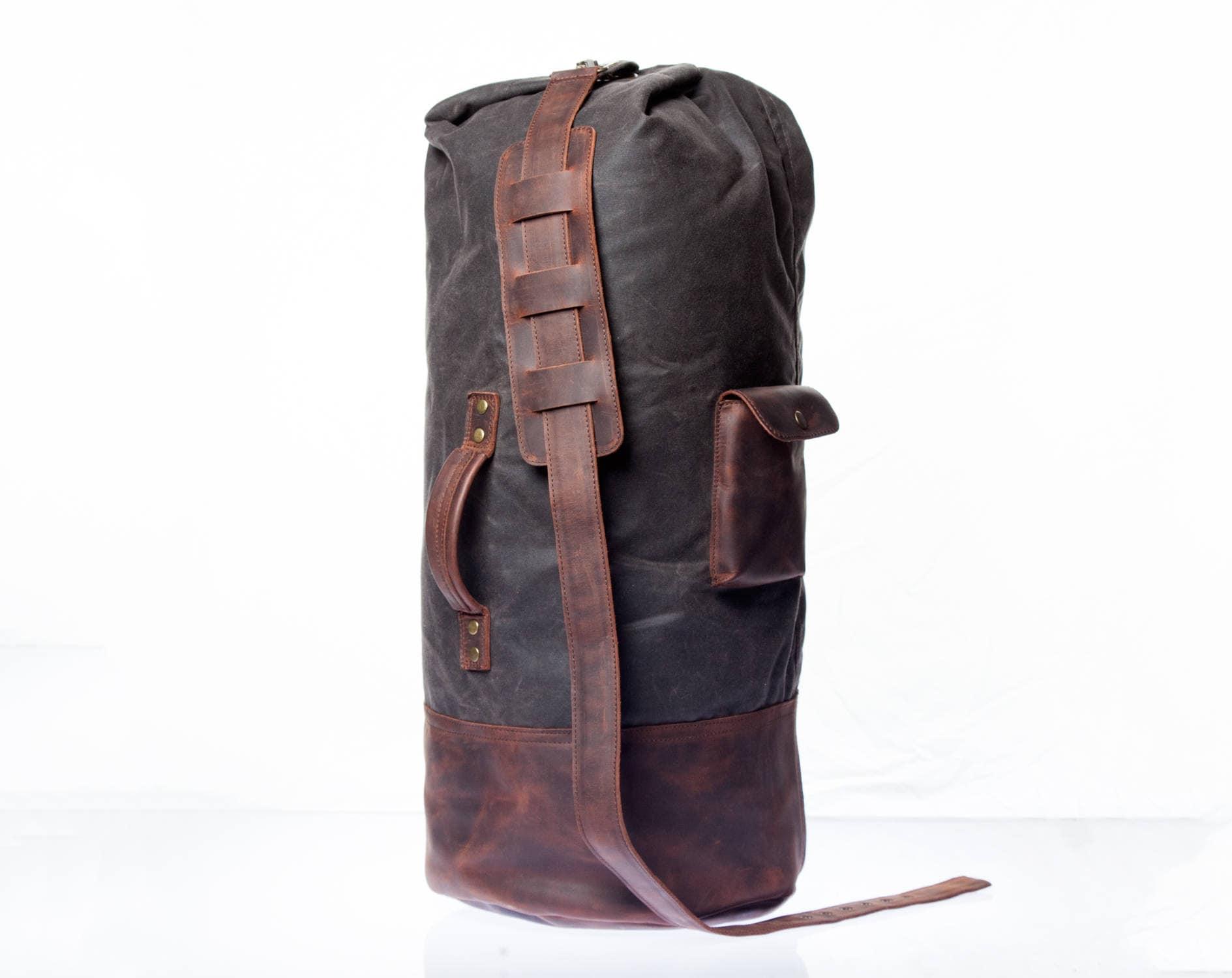 85f4949ede79f Canvas Duffel Bag Mens Duffle Bag Waxed Duffel Leather