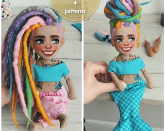 Video tutorial # 10 in a private account Instagram - How to create lady doll with dreads and tattoos