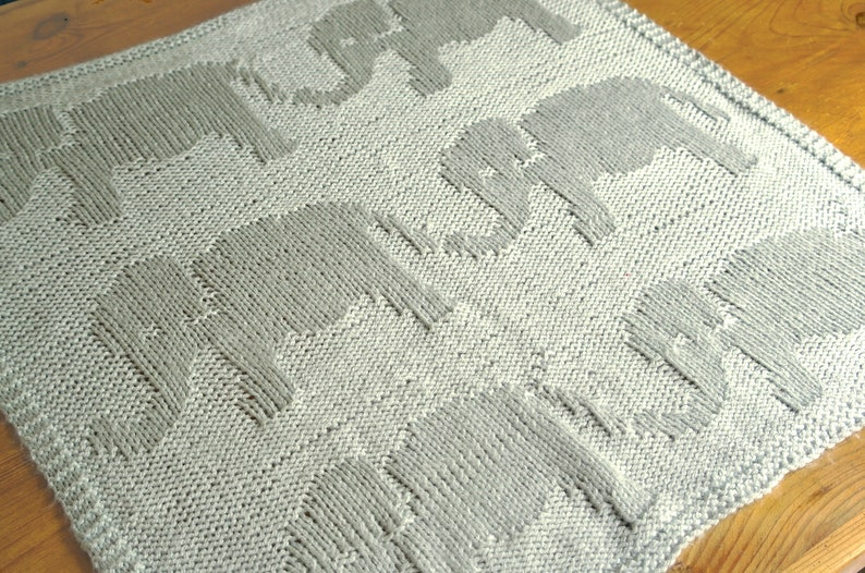 Easy Baby Blanket Knitting Pattern Baby Elephant Blanket Etsy