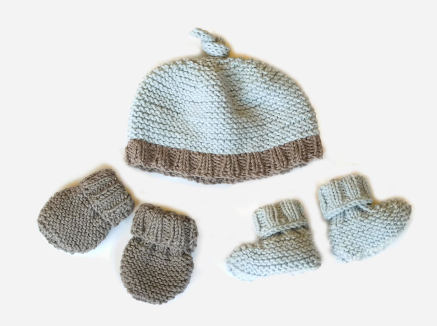 Easy Knitting Pattern Baby Hat Booties Amp Mittens