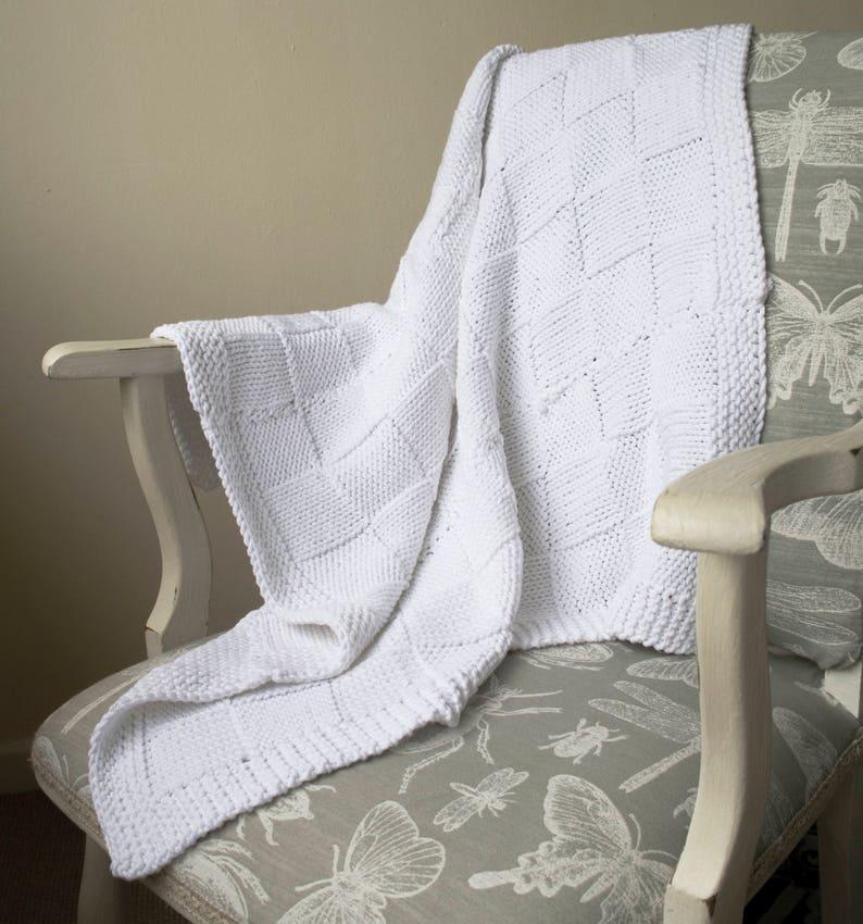 Easy baby blanket knitting pattern / Basket weave blanket ...