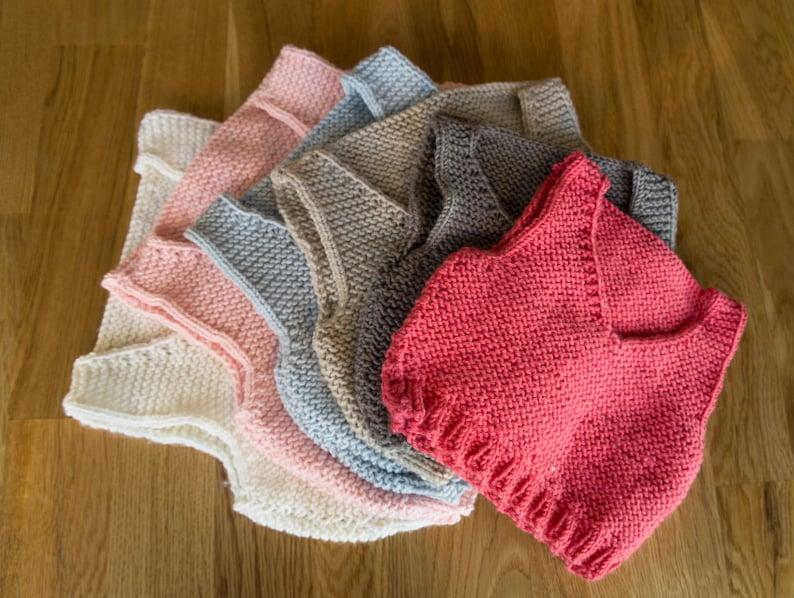 Easy Knitting Pattern Baby Vest Baby Body Warmer Etsy