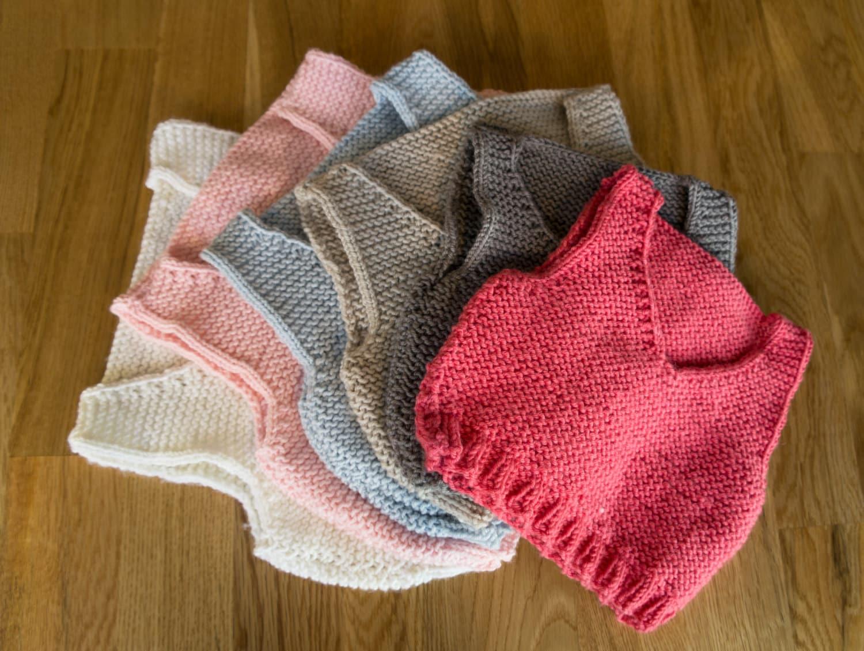 Easy Knitting Pattern - baby vest / baby body warmer - beginner ...