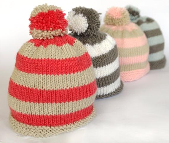 Easy Baby Hat Knitting Pattern Baby Bobble Hat Pompom Hat