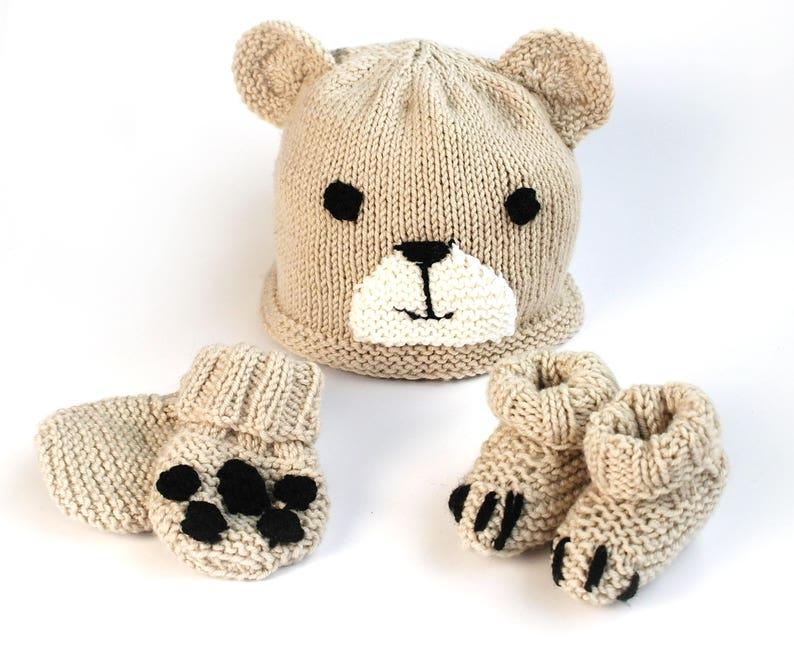 fef1731da Easy baby hat booties   mittens knitting pattern   Beginner