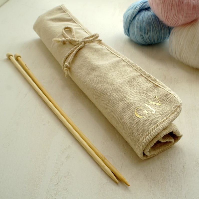 Personalised Knitting Needle Roll Case