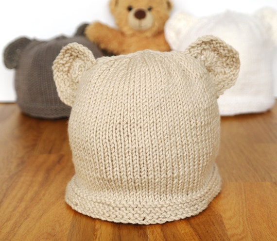 Easy Baby Knitting Pattern Teddy Bear Hat Baby Hat With Etsy