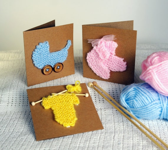 8859e632a New baby card knitting pattern   Baby shower invitation