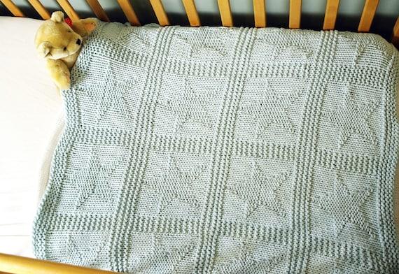 Easy Baby Blanket Knitting Pattern Star Pattern Blanket