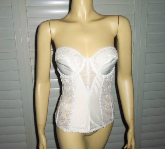 Vintage White Bustier 80s Carnival Corset Bustier
