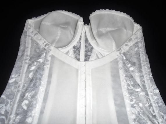 Vintage White Bustier 80s Carnival Corset Bustier… - image 7