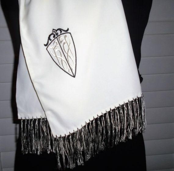 40s Mens Dress Scarf Vintage Silk Scarf ft Coat o… - image 2