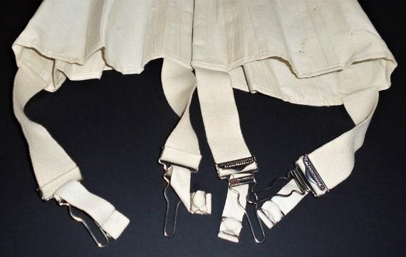 Antique White Corset 1910s Lace Up Corset w Box X… - image 7