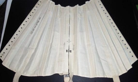 Antique White Corset 1910s Lace Up Corset w Box X… - image 8
