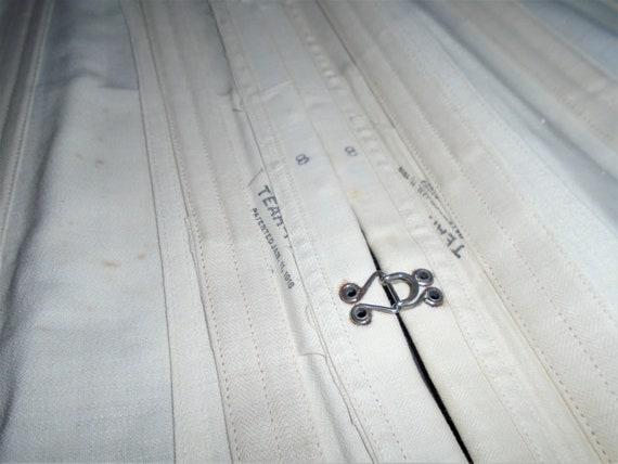 Antique White Corset 1910s Lace Up Corset w Box X… - image 6