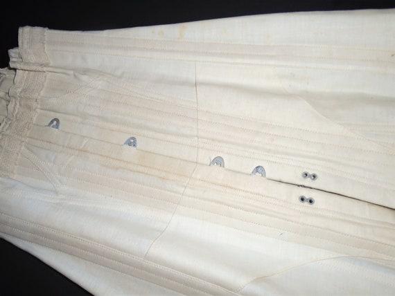 Antique White Corset 1910s Lace Up Corset w Box X… - image 3