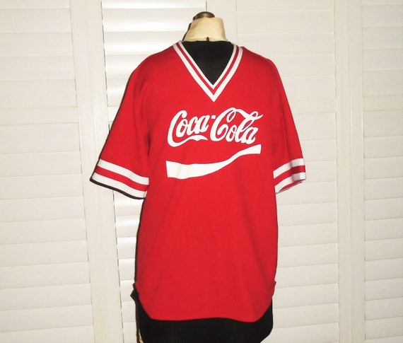 80s Coca Cola Jersey Number 31 Red Coke Shirt L