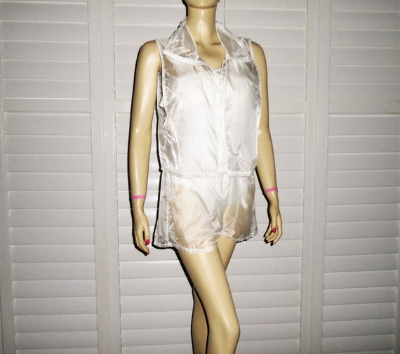 80s Jantzen Swimsuit Cover Electric Beach Cover Up
