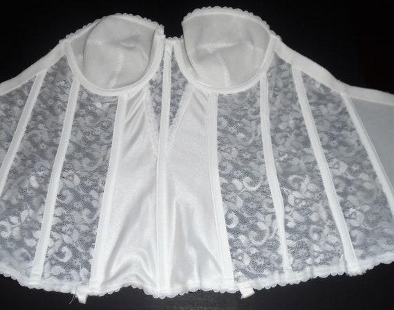 Vintage White Bustier 80s Carnival Corset Bustier… - image 8