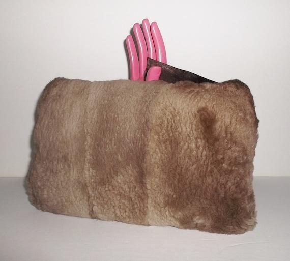 f14885aa6 Vintage Muff Sheared Fur Soft Hand Warmer Muff Bag