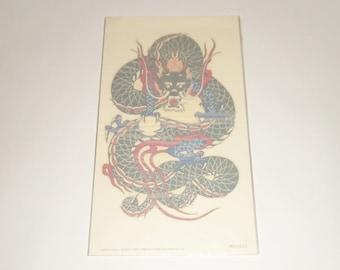 Vintage Tattoo Tokyo Giant Dragon Temporary Tattoo NOS