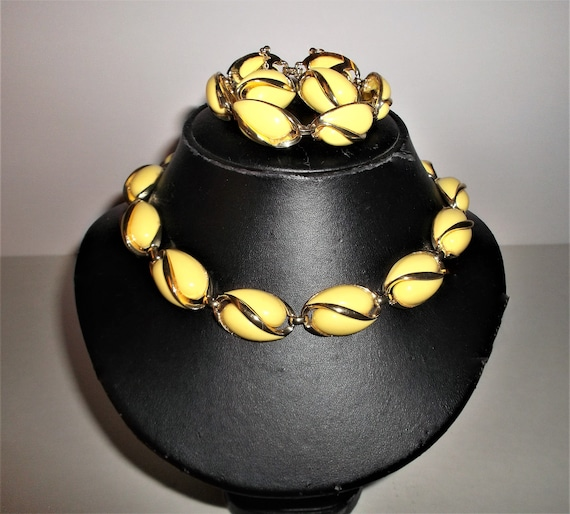 Vintage Coro Jewelry 50s Coro Necklace and Bracele