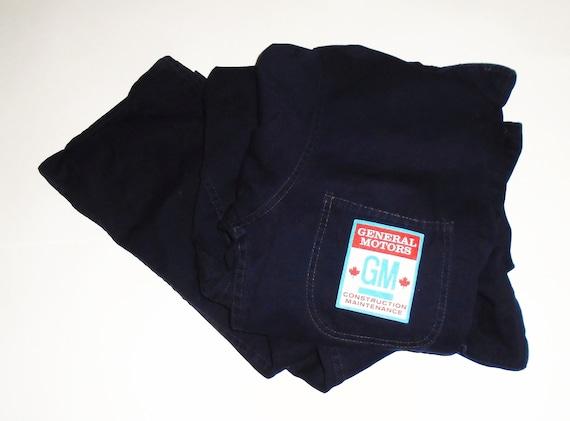 70s Work Coveralls GM Blue Boiler Suit Jumpsuit Si