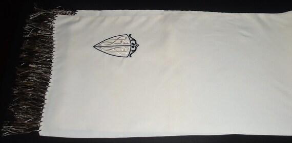 40s Mens Dress Scarf Vintage Silk Scarf ft Coat o… - image 8