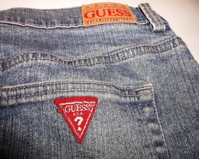 Vintage Jean Mini 90s Guess Jeans Denim Skirt W30