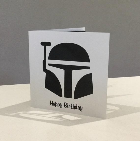 Papercut Boba Fett Star Wars Birthday Card Art Gift Present Etsy