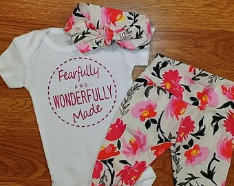 dd852f5013b Baby Going Home Fearfully and Wonderfully Made Outfit boy
